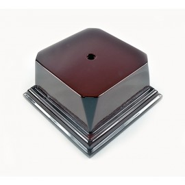 Rosewood Series Economy Base 3 1/8 Square Block - T1016-1 - Tennis Trophies And Awards Trophies T1016-1