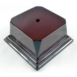 Rosewood Series Economy Base 4 1/8 Square Block - T1016-2 - Party And Celebration Gift Giving Tourna T1016-2