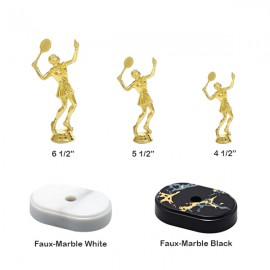 Tennis Trophies And Awards Trophies - T973f-wb - Tennis Female Trophy With Choice Of Base T973F-WB