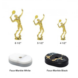 Tennis Male Trophy With Choice Of Base - T973m-wb - Tennis Trophies And Awards Trophies T973M-WB