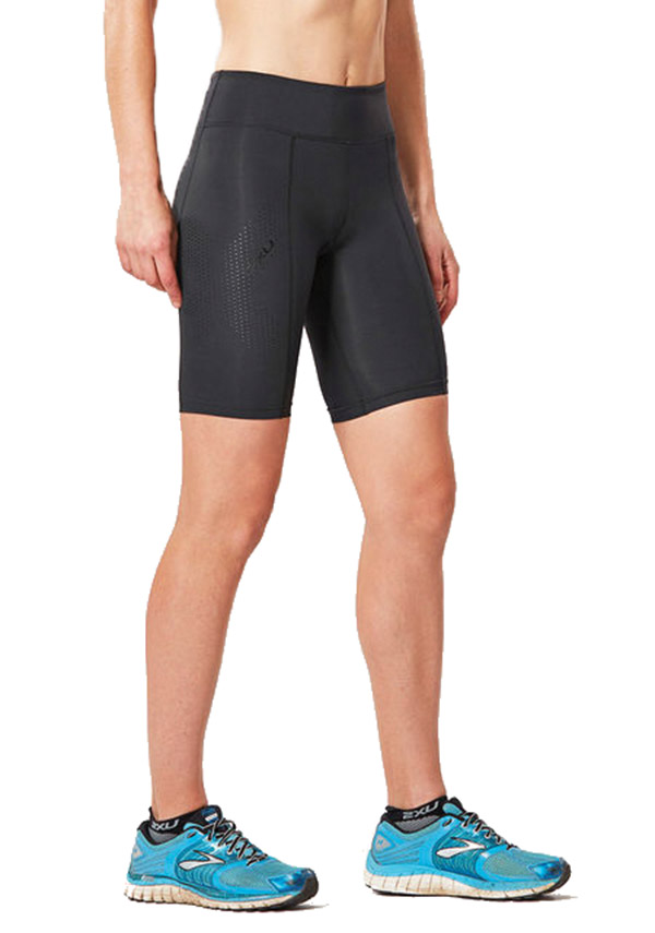 2xu Womens Mid-rise Compression Short - C2xwh0 - Tennis Womens Apparel Shorts 2xu C2XWH0