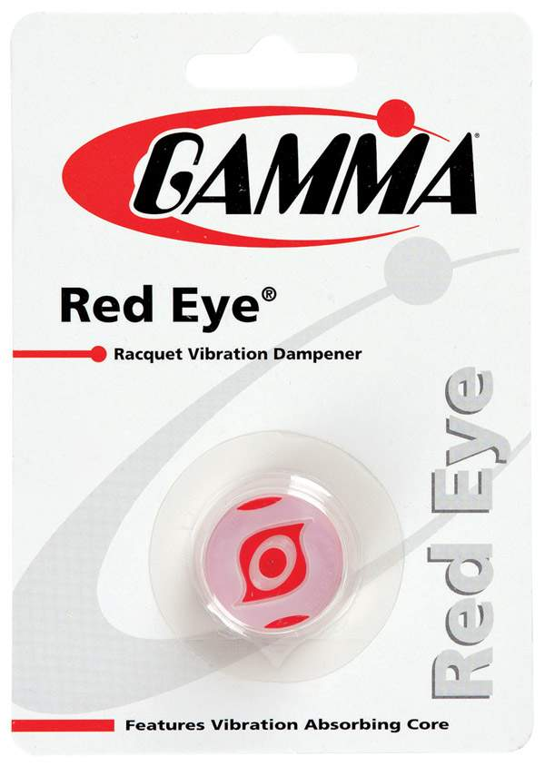 Tennis Grips And Accessories Vibration Dampeners - Qgre - Gamma Red Eye Dampener 1x QGRE