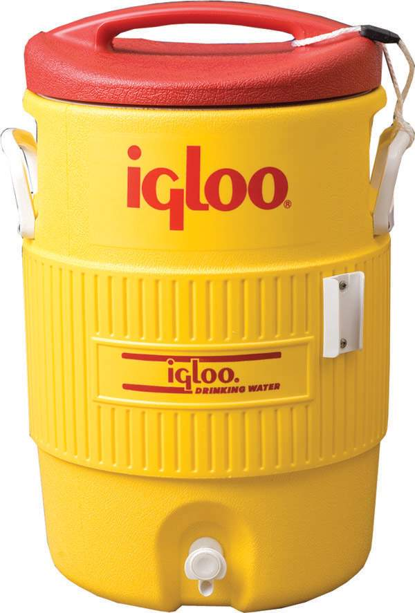 Igloo Cooler 5 Gallon Yellow - Dcool - Tennis Court Equipment Coolers And Accessories DCOOL