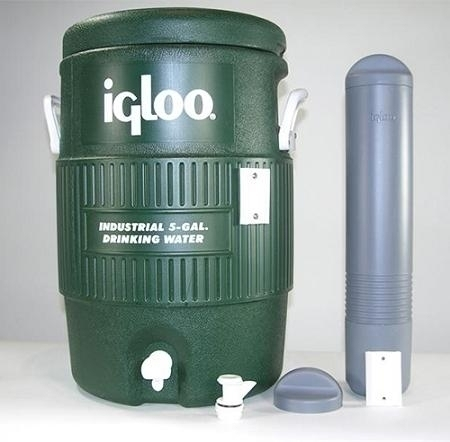 5 Gal. Igloo Cooler - 519-285w - Court Equipment Court Accessories Tennis Nets 519-285W